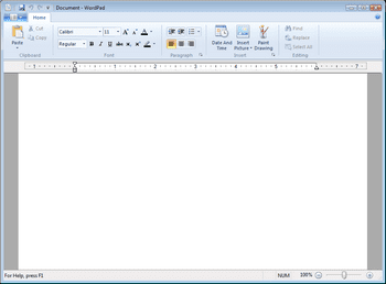 Windows7M3WordPad
