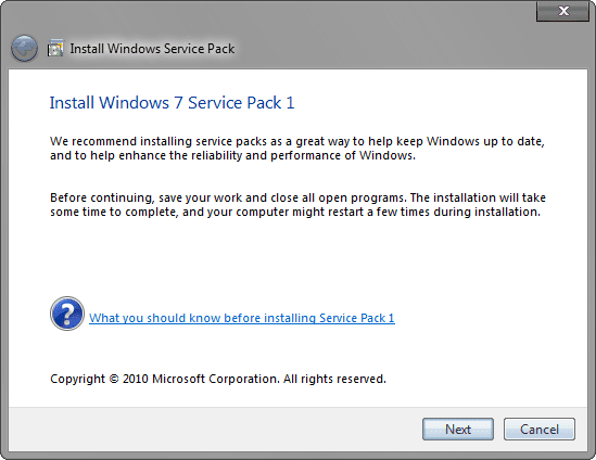 windows service pack 7 Desbloquear archivos para poder eliminarlos
