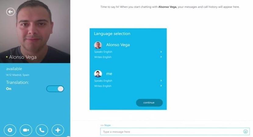 Captura de pantalla de Skype