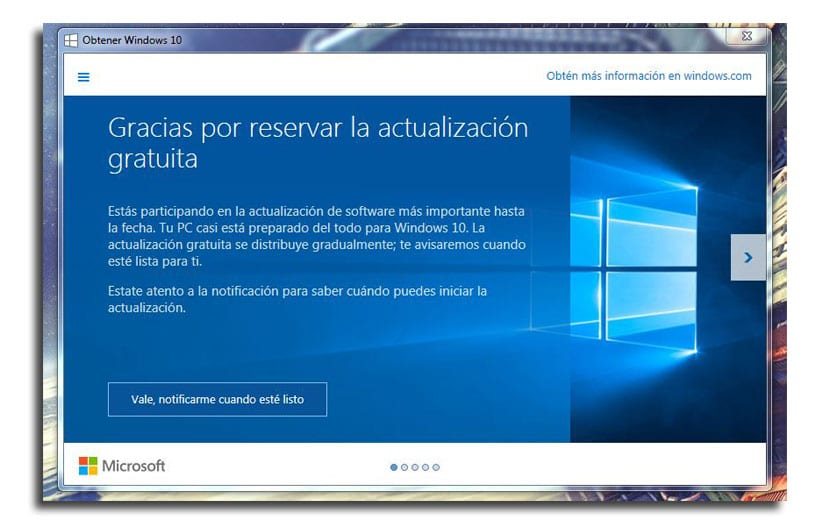 Reservar Windows 10
