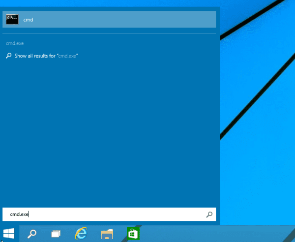 CMD en Windows 10 desde el buscador