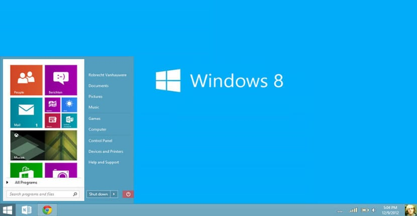 Botón de Inicio Windows 8