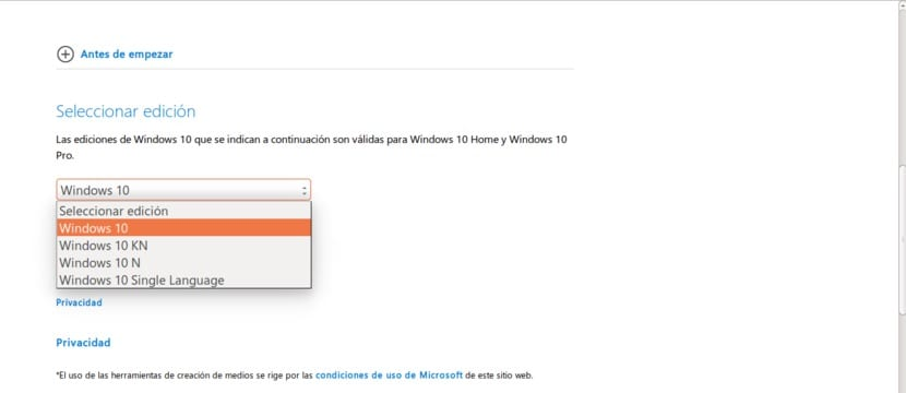 Versiones ISO de Windows 10