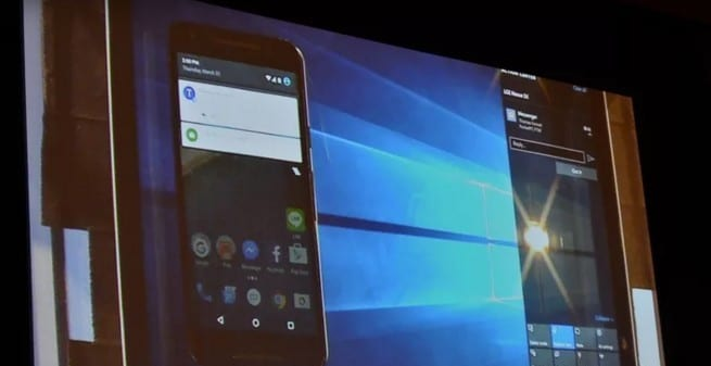 Windows 10 notificaciones Android