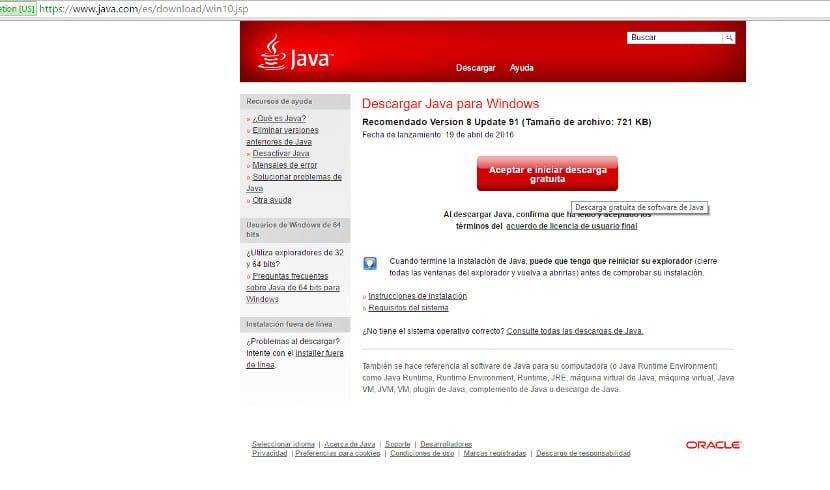 Instalación de Java