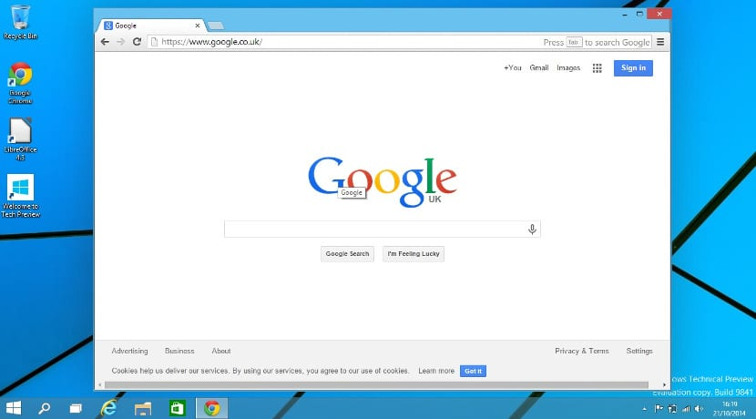 Google Chrome en Windows