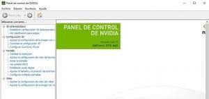 Panel de control NVIDIA