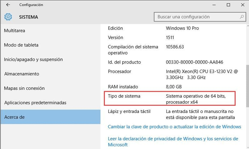 Windows 10 Información