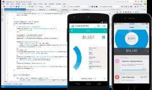 Visual Studio 2017 con móviles