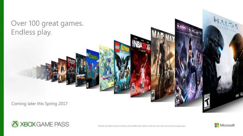 Cartel comercial de Xbox Game Pass