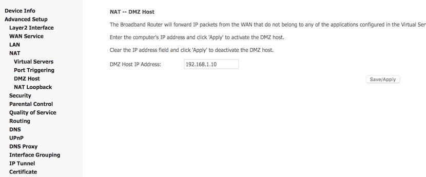 DMZ Host