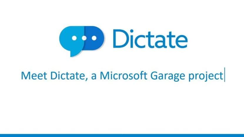 Logotipo oficial de Dictate