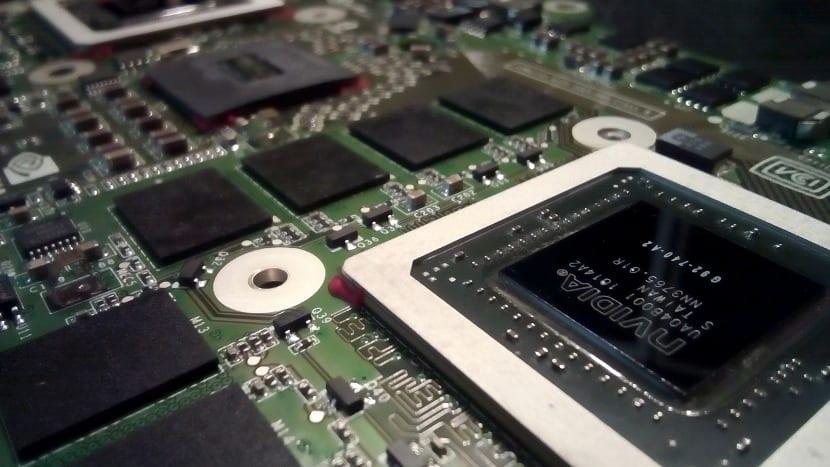 Placa con procesador Nvidia