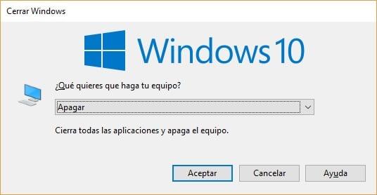 Apagar Windows 10