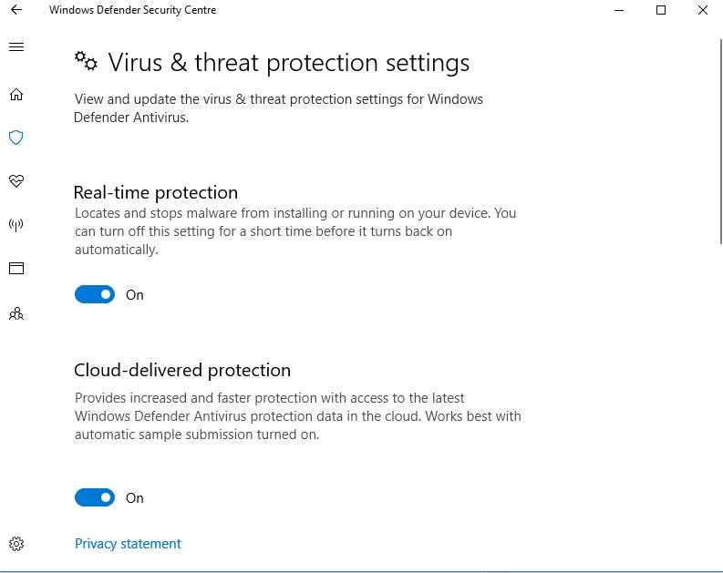 Protección en tiempo real