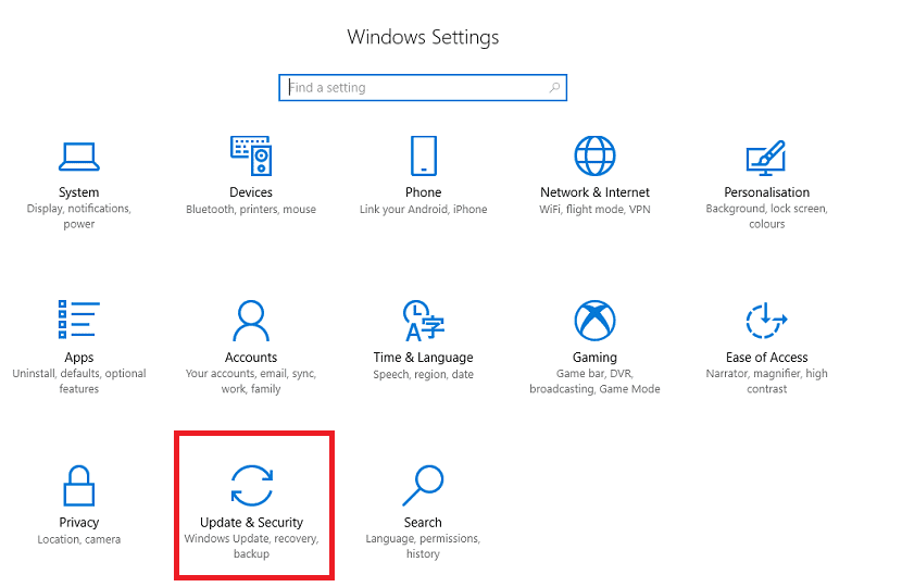 Configuración Windows 10
