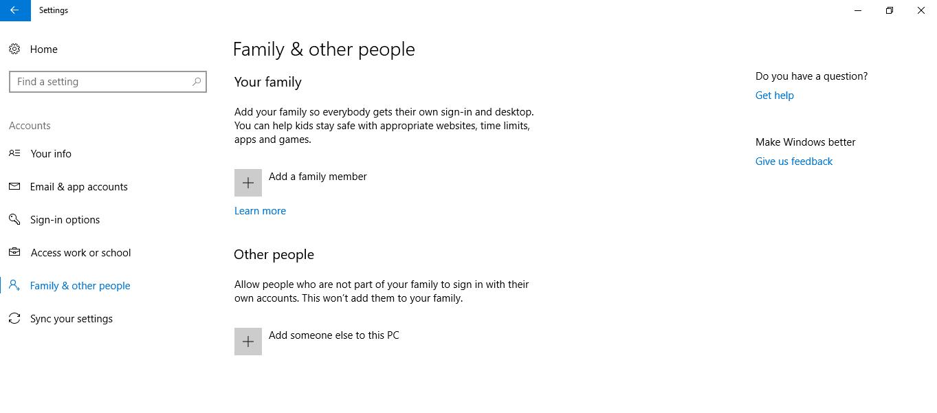Familia y otras personas