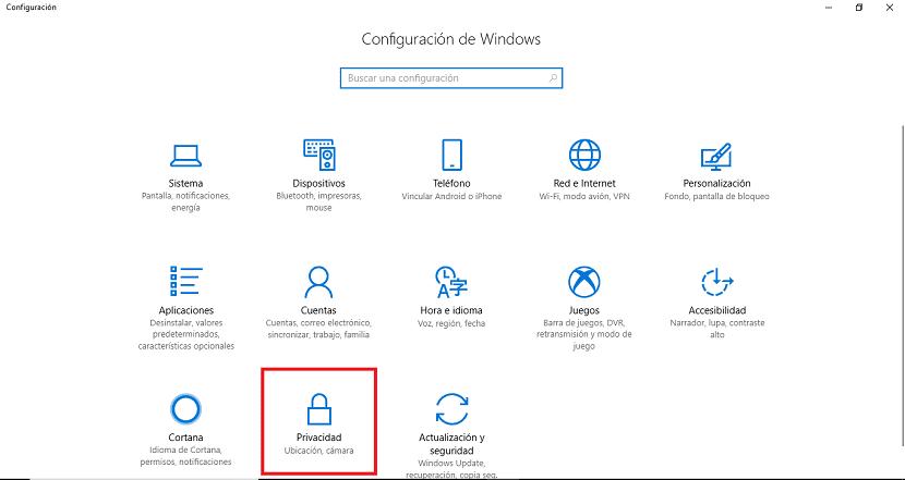 Configuracion Privacidad