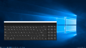 Windows 10 teclado en pantalla
