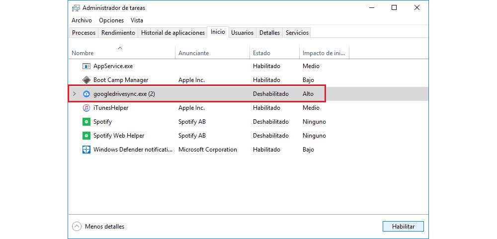 Cómo quitar programas del inicio de Windows 10