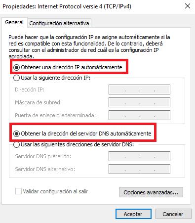 Activar DHCP