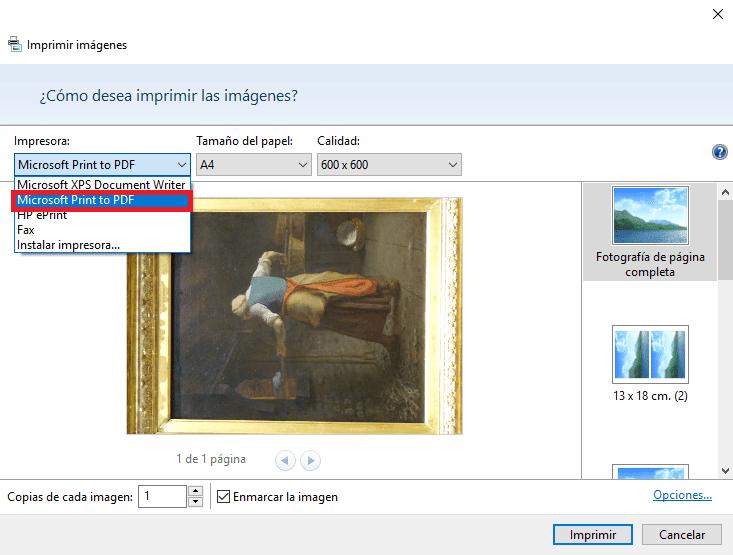 Pasar imagen a PDF