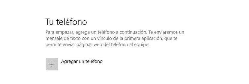 Vincular teléfono a Windows 10