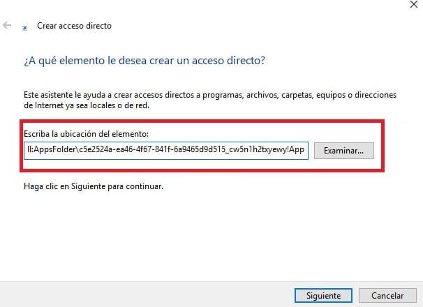 Acceso directo explorador archivos