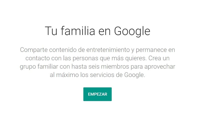 Cuenta familiar Google