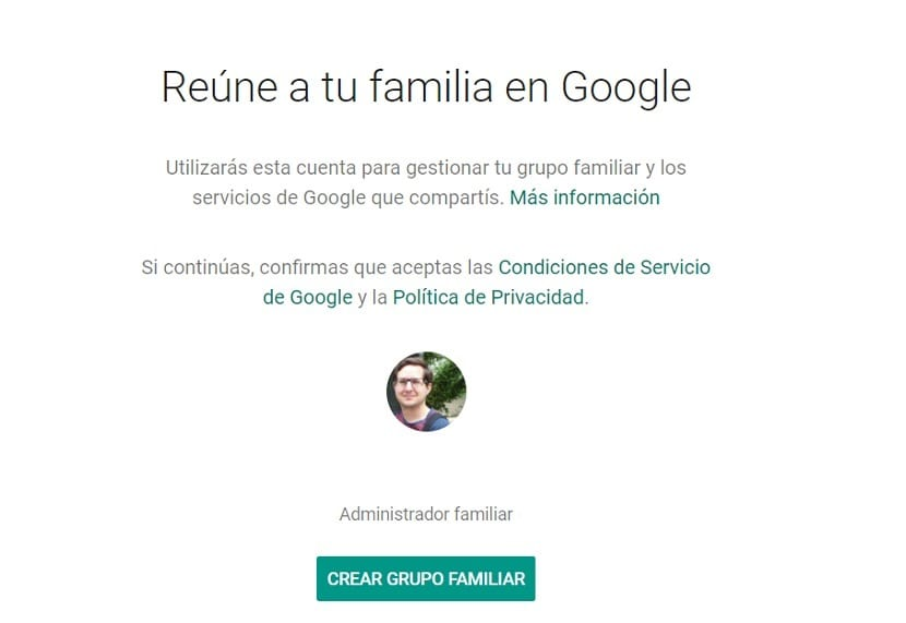 Grupo familiar Google
