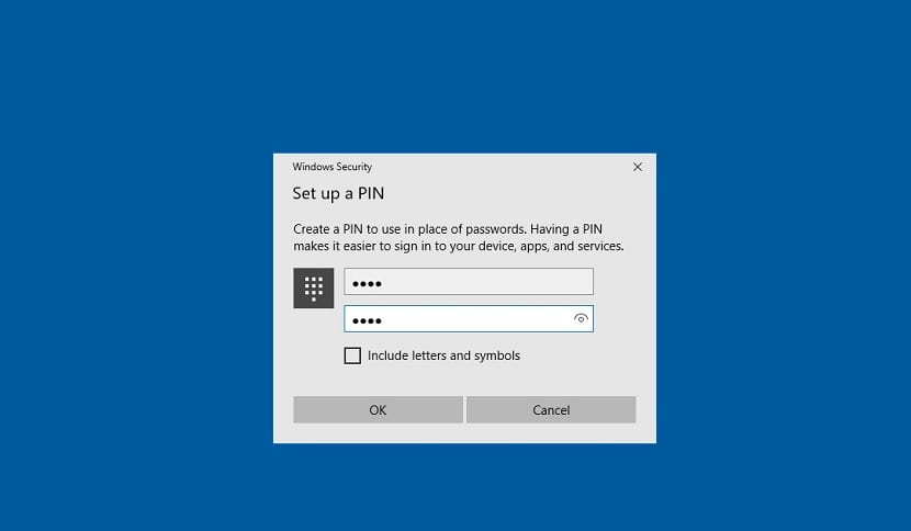 PIN Windows 10