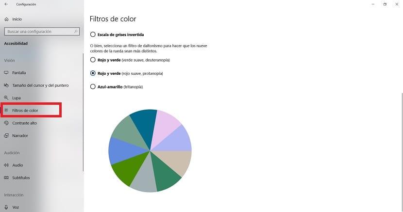 Filtros de color