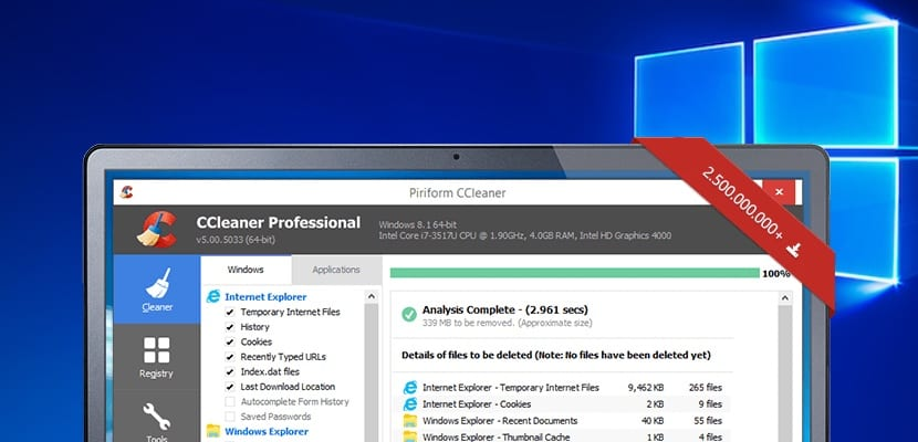 CCleaner en Windows 10