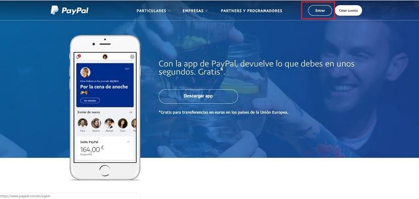 PayPal entrar
