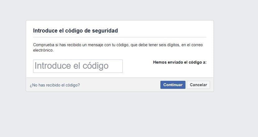 Facebook recuperar contraseña