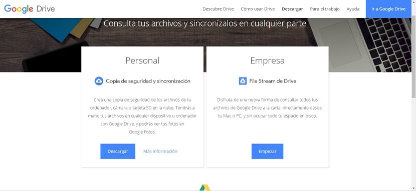 Google Drive descargar