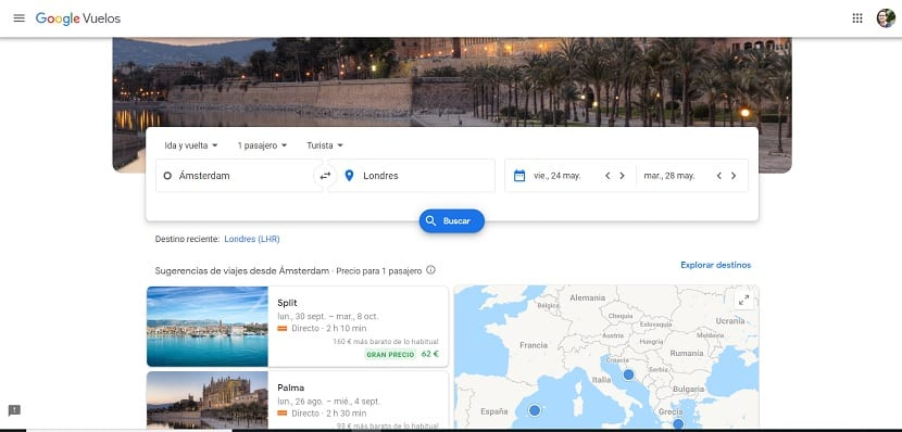 Google Flight buscar