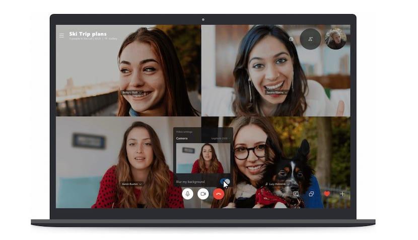 Difuminar fondo Skype