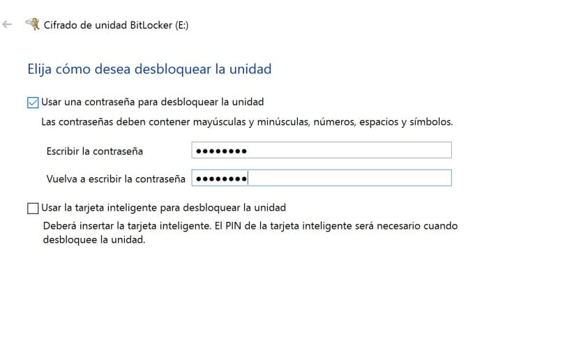 BitLocker cifrar unidad