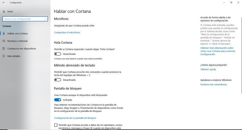 Cortana desactivar