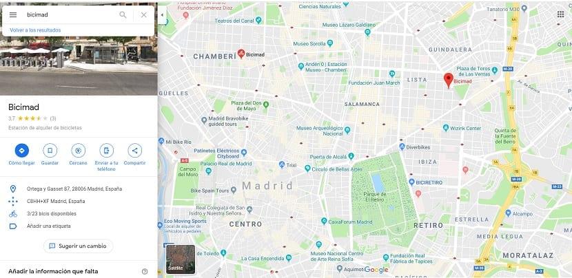 Google Maps bicis