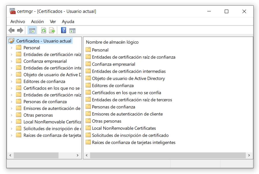 Como ver mi certificado digital Windows