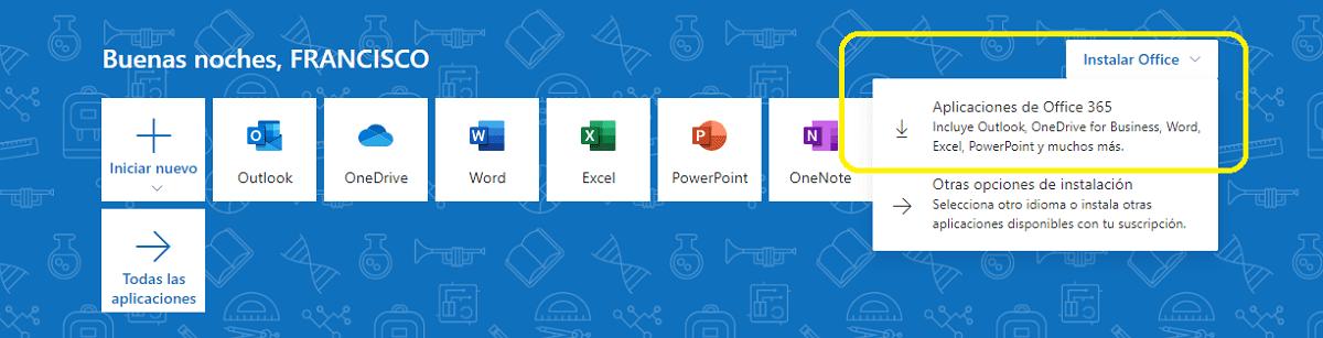 Descargar Microsoft Office con una cuenta corporativa