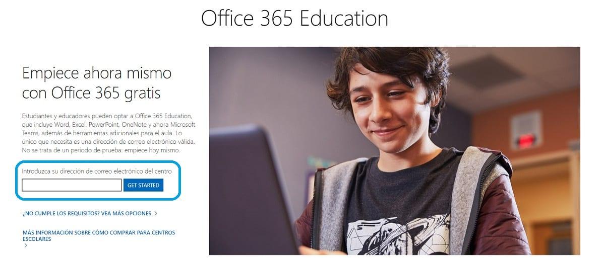 Obtener licencia gratuita de Office 365 para estudiantes y profesores