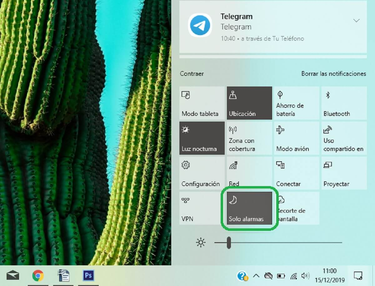 Activar o desactivar el asistente de concentración en Windows 10