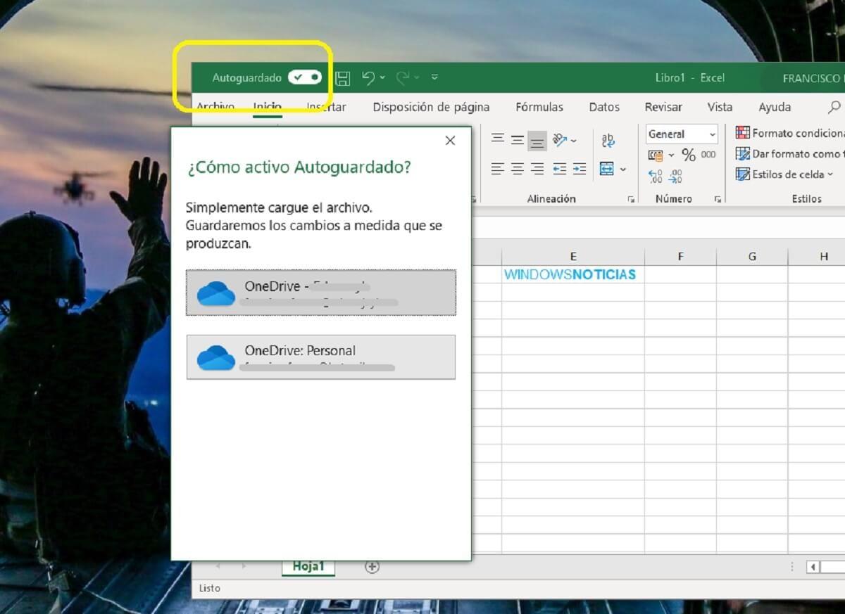 Activar el autoguardado de documentos en la nube en Microsoft Excel