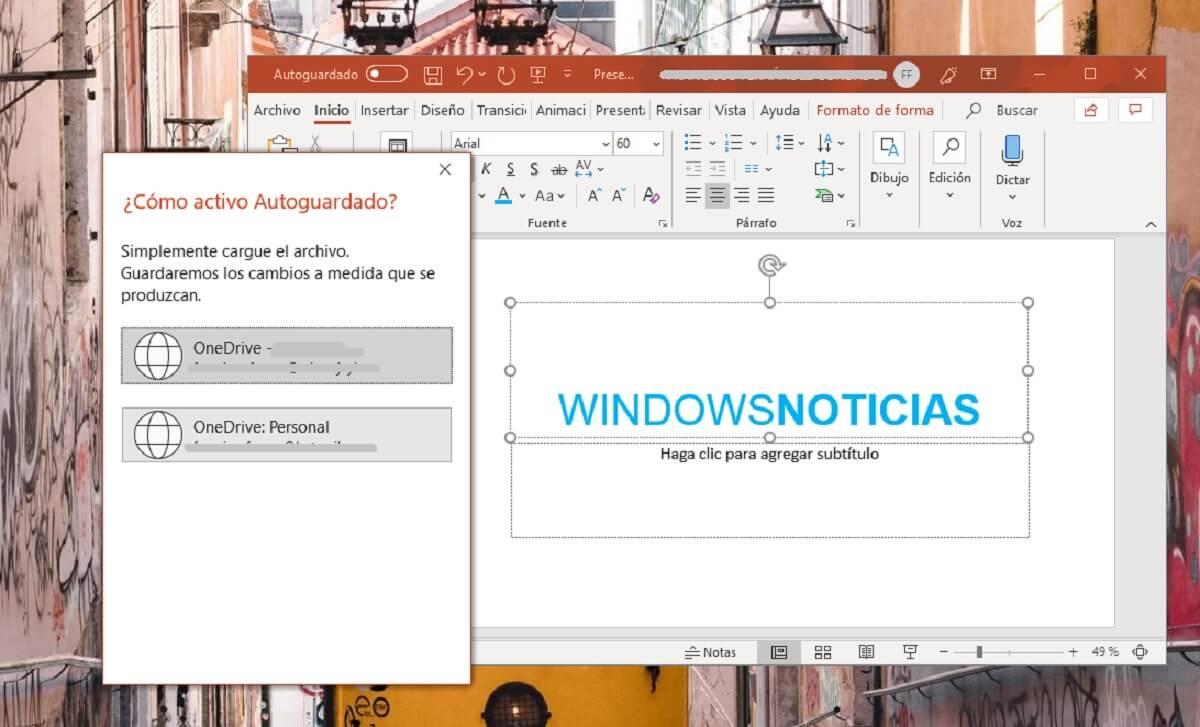 Activar el autoguardado de documentos en la nube en Microsoft PowerPoint