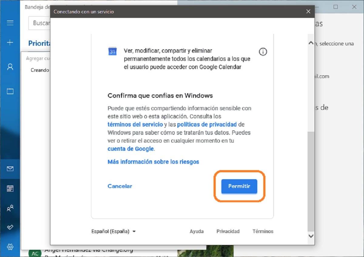 Agregar una cuenta de Gmail a la aplicación Correo de Windows 10