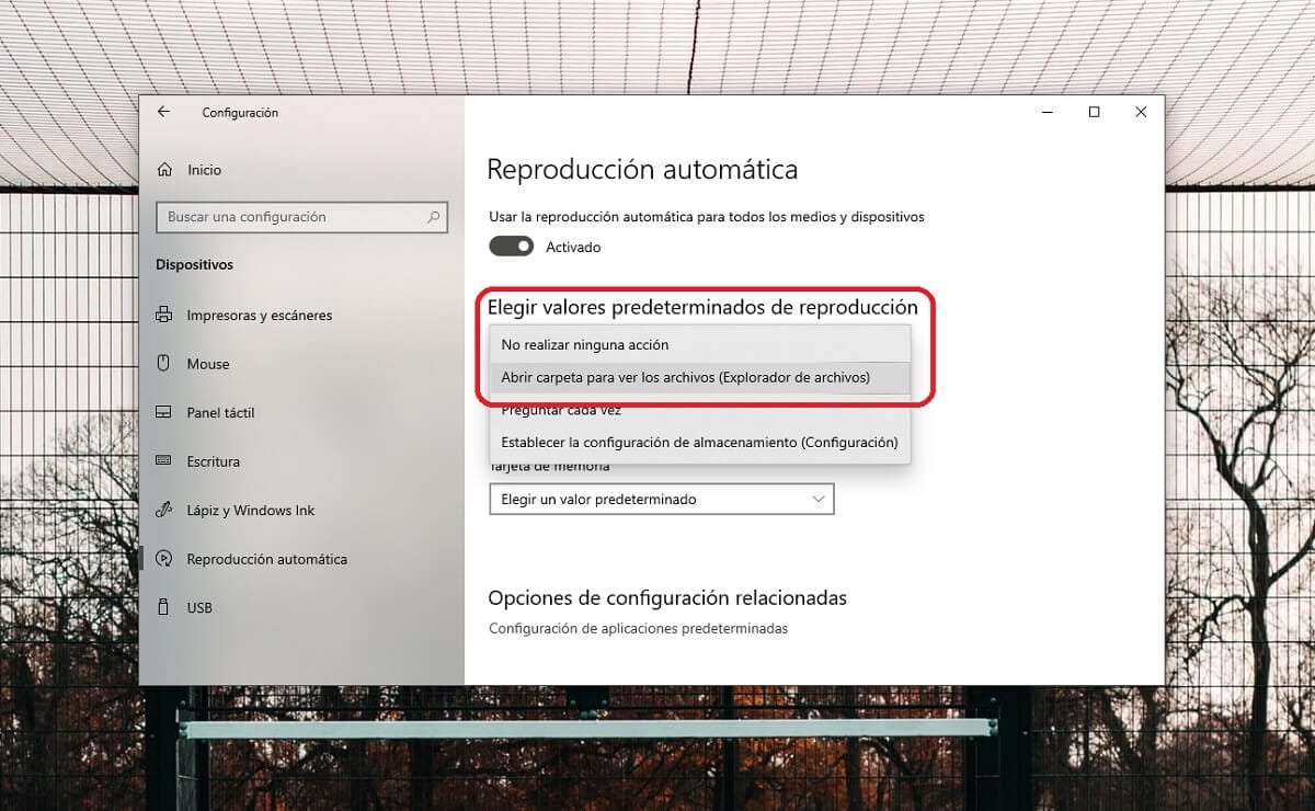 Configurar la reproducción automática de medios extraíbles en Windows