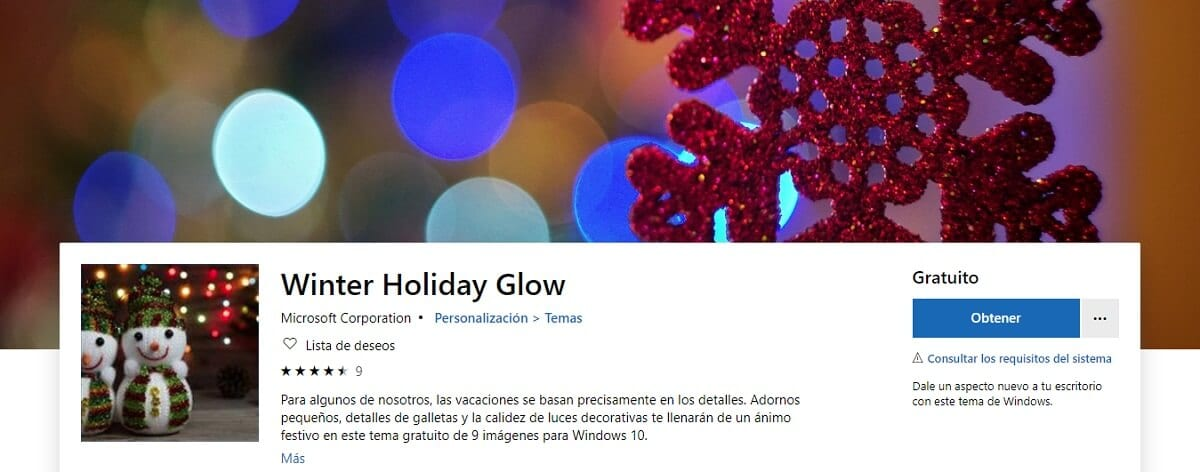 Winter Holiday Glow para Windows